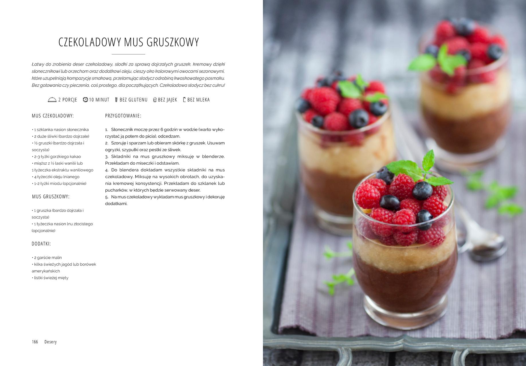 Superfood po polsku - przepis na czekoladowy mus gruszkowy